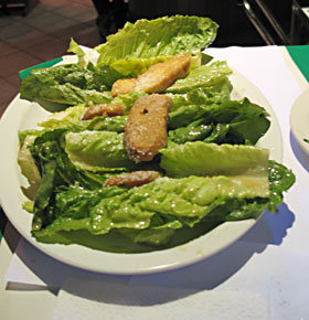This is what a real Caesar salad looks like. Look mom, no fork!