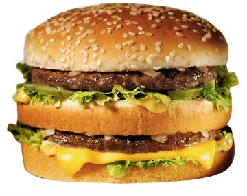 This is a Big Mac, which I would never actually eat, but, you have to admit, makes a pretty good model for future burgers of America. Hold the third slice.