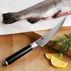 "The technical name is ""filet knife."" It's the right tool for filleting fish."